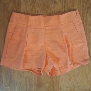 "J Crew 4"" Light Coral Orange Pleated Short"